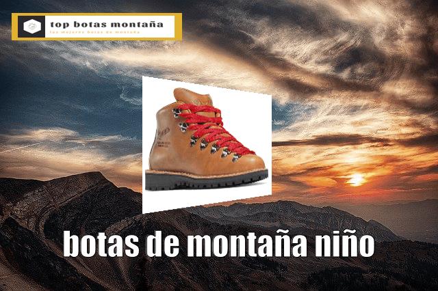 Botas de montaña niño